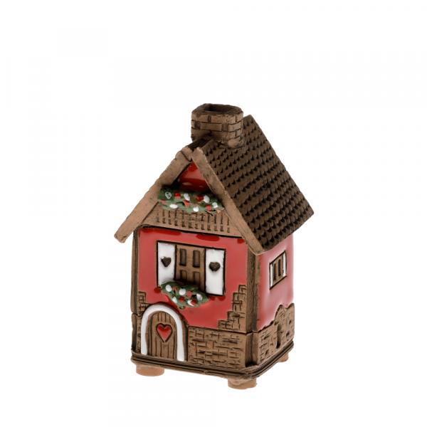 Ceramic house/incense burner N001