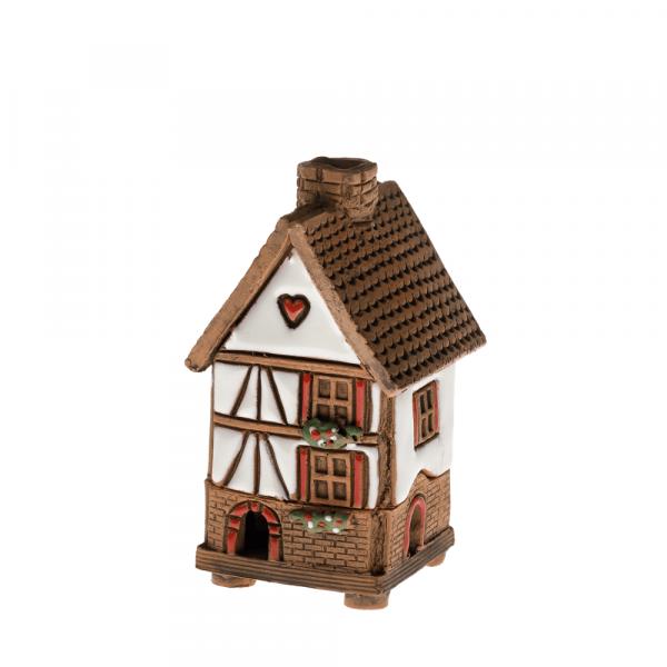 Ceramic house/incense burner N009