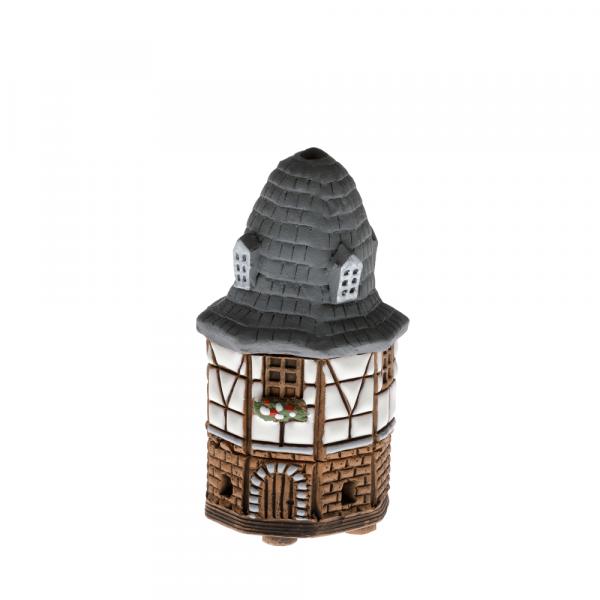 Ceramic house/incense burner N011